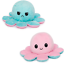 thumbnail 1 - Plush Octopus Reversible Cute Flip Soft Toy Gift Happy Sad Pink Blue Mood Teddy