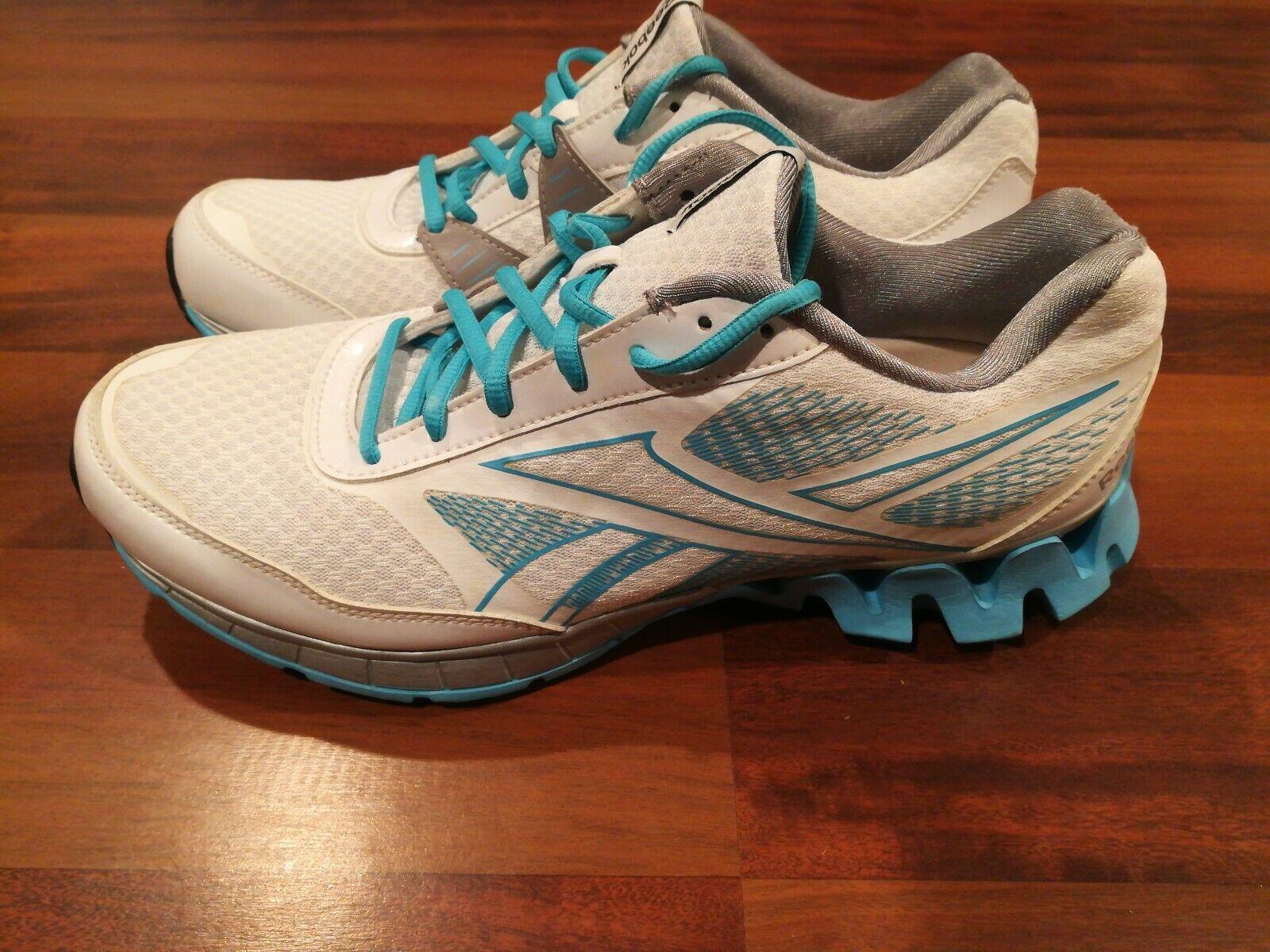 3a6e1ae8 Reebok Zigtech Atlético Zapatos Tenis Para Correr Caminar Para Mujer  blancoo Azul