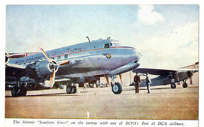 BCPA British Commonwealth Pacific Airlines DC-6 Airline Travel Poster