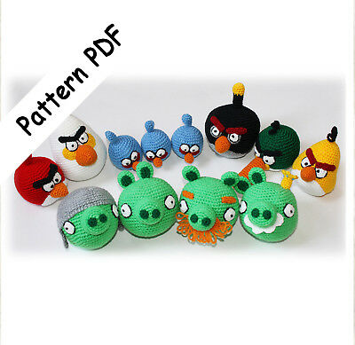 Red By Angry birds PDF CROCHET PATTERN Instant Download | Etsy | 389x400