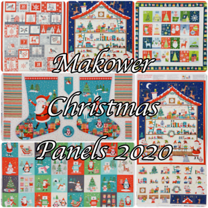 Christmas Fabric Panels 2020 Makower PANELS Advent Stockings Christmas '20 100% Cotton