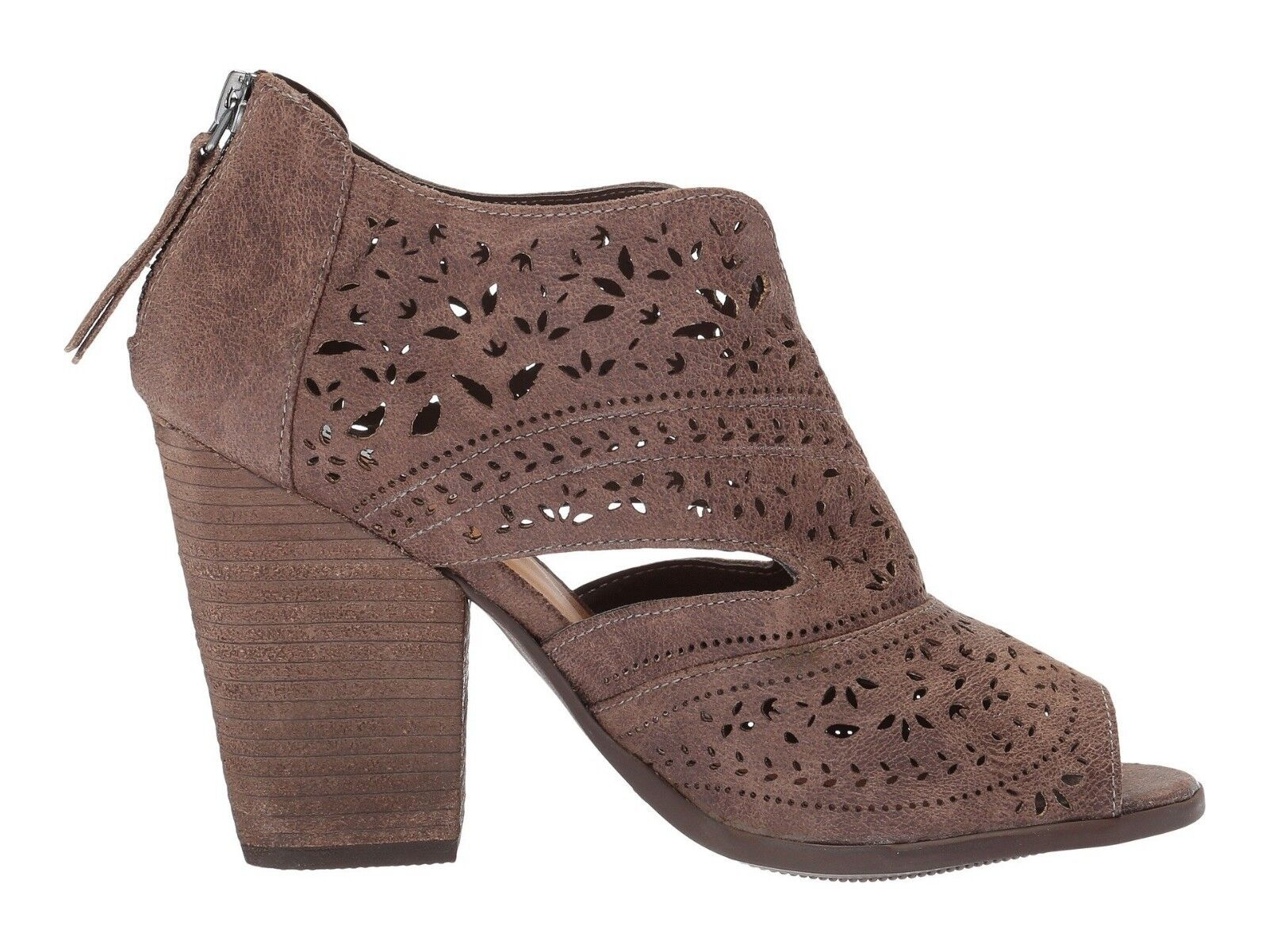 Not Rated Santana Laser Cut Bootie Cream color NEW