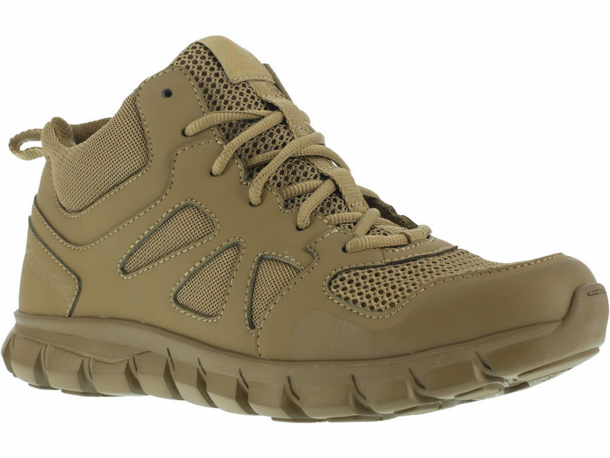 Reebok RB8406 Men's Coyote Sublite Mid High Soft Toe Cushion Tactical Work Boot