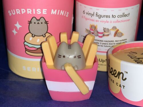 NeW Thumbs UP In FRENCH FRIES PUSHEEN Surprise Series 3 Mini Vinyl Fig RaRe