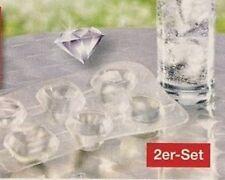 2er Set Silikon Eiswürfelform Diamant Eiswürfelbereiter edle Drinks Eiswürfel x