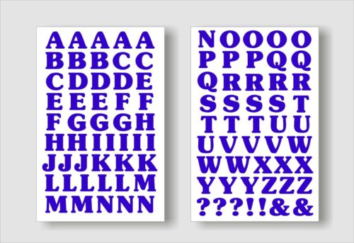 15 mm Vinyl A-Z Letters Peel /& Stick*Signs*Crafts* 90 in total Self Adhesive