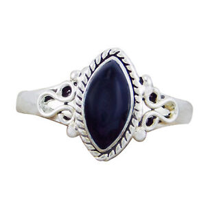 Natural-Sterling-Silver-925-Black-Onyx-Marquise-Ring-Size-6-7-8-9-US-02