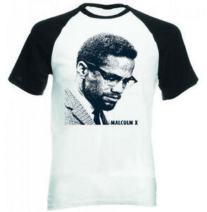 MALCOLM-X-AFRICAN-AMERICAN-LEADER-NEW-BLACK-SLEEVED-COTTON-TSHIRT