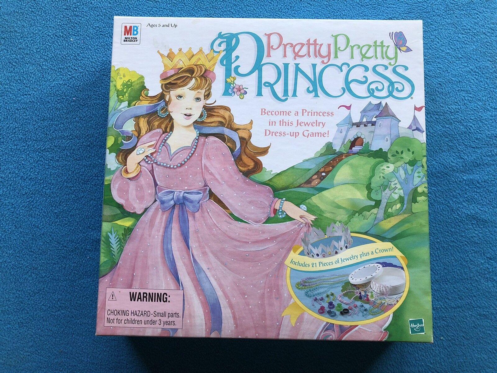 1999 MB Hasbro Pretty Pretty Princess Dress Up Board Game - 100% Complete