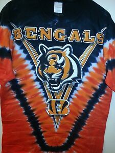 9cab787f8be9a2 CINCINNATI BENGALS Tie Dye V Dye T-Shirt NFL Licensed NEW