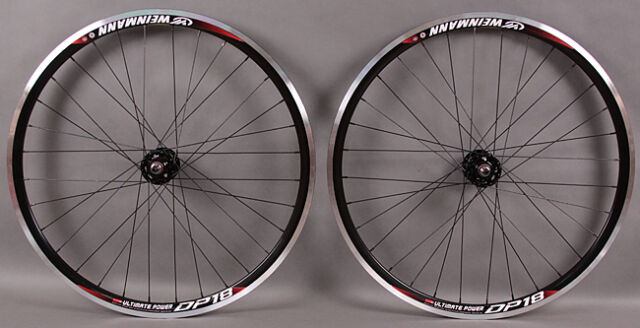 Weinmann DP18 black fixed gear Track Bike Wheelset Wheels 32h SingleSpeed  DT 2 0