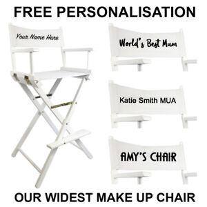 Merveilleux Image Is Loading White Premium Tall Portable Folding Makeup Artist Chair