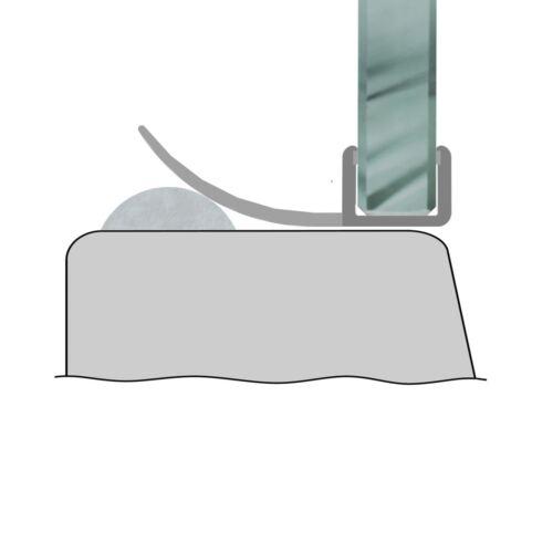Duschdichtung Schwallschutz Wasserabweiser Duschprofil 6mm Glasstärke