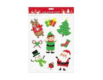 Xmas Tree Design Window Sticker - Christmas Gel Coloured Large Window Plaques