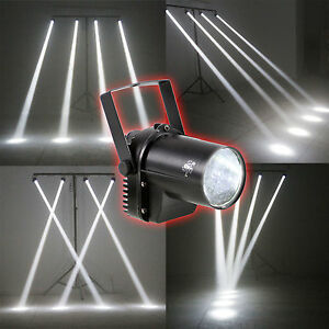 3W LED White Beam Spotlight DJ Bar Dance Xmas Party Stage Light Pinspot Lighting