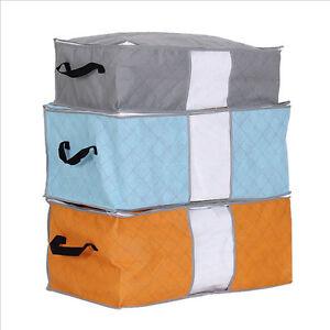 foldable storage bag clothes blanket pillow quilt closet