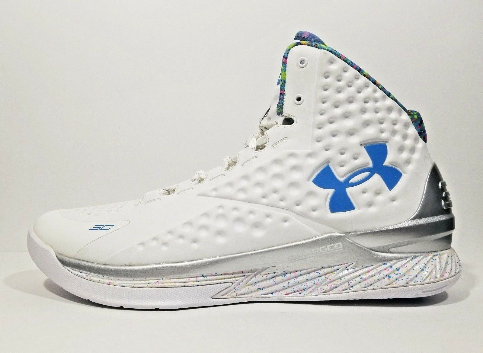 Under Armour Curry 1 PE Splash Party Uomo Basketball Shoes 12.5 White Size 12.5 Shoes 460c1c