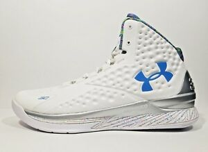 cheap for discount c9453 1b7b0 Under Armour Curry 1 PE Splash Party Mens Basketball Shoes White ...