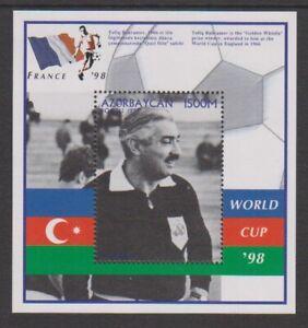 Azerbaijan - 1997, World Cup Football, Tofiq Bahramov sheet - MNH - SG MS421
