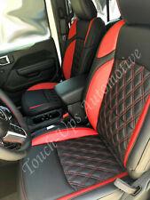 2020 2021 Jeep Gladiator Katzkin Leather Seat Covers Black Red Tekstitch Diamond