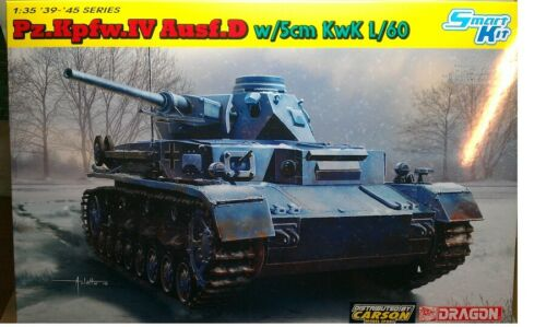Dragon 6736-1//35 WWII Pzkpfw Iv Ausf Neu D W//5cm Kwk L//60