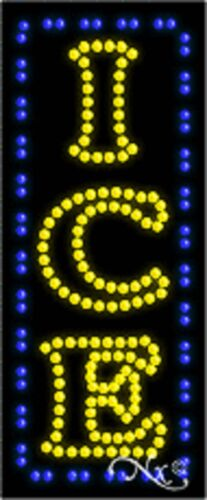 """NEW """"ICE/"""" VERTICAL 27x11 SOLID//ANIMATED LED SIGN w//CUSTOM OPTIONS 20991"""