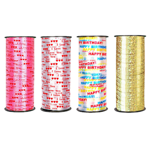 100 Yard Crimped Curling Ribbon Roll Silver Balloon Ribbons Party Gift Wrapping