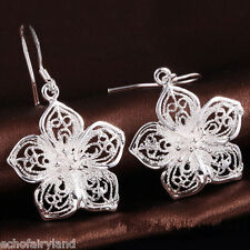 1 Pair Vintage Charm Hollow Rose Earrings Eardrop Ear Hook Jewelry Accessories