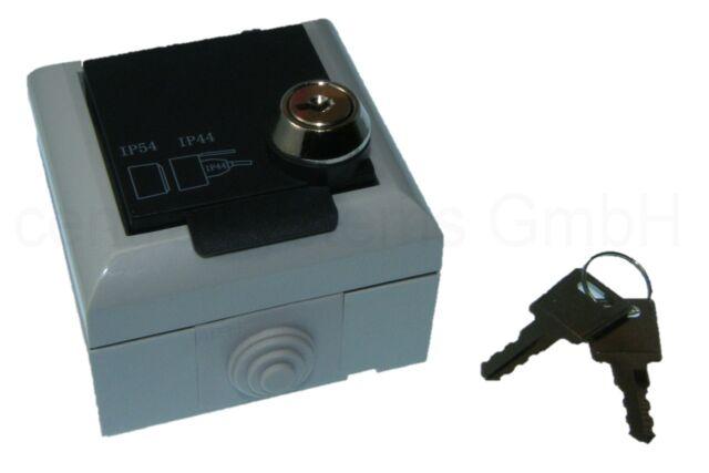 Abschließbare Aufputz Steckdose - Außen Steckdose mit Schlüssel / Absperrbar