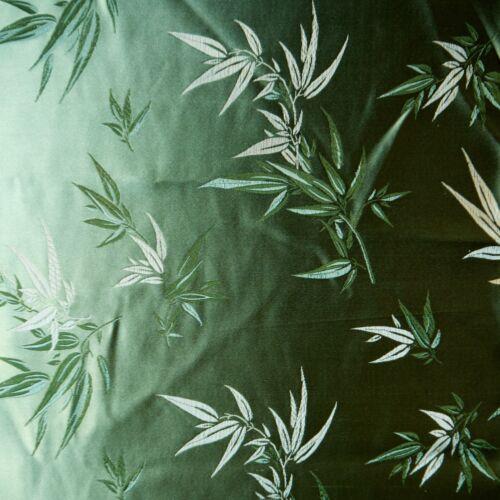 Suite 109 Sage Green Satin Brocade Asian Bamboo Curtains Drapes Rod Pocket 42x84