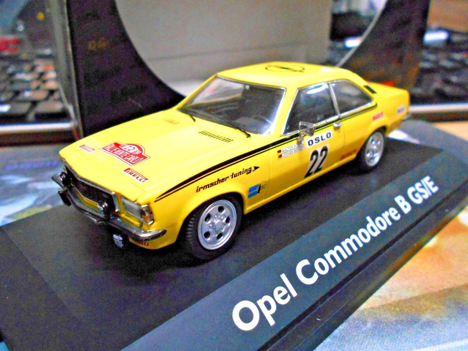 Opel Commodore B GSE GS E coupé Monte Carlo Rallye 1973 Röhrl RAR SCHUCO 1 43