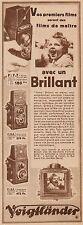 Y8422 Appareil Photo VOIGTLANDER Brillant - Pubblicità d'epoca - 1934 Old advert