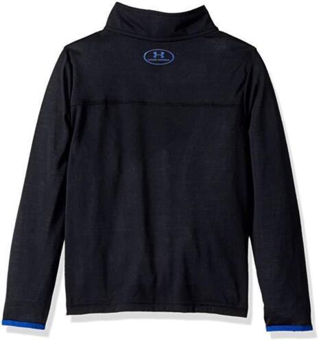 New Under Armour Boys/' Threadborne ¼ Zip Sweater Shirt MSRP $35.00 Black Blue