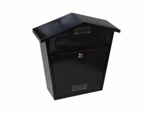 Black Post Box Letter Includes Pre Drilled Holes to Allow Easy Fixing to Posts