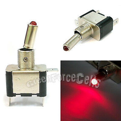5 x Car Boat Light LED ON/OFF Toggle Switch DC 12V 20A SPST Control Red Color