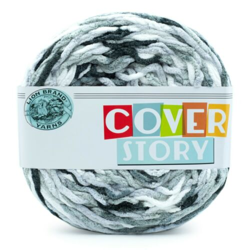 Lion Brand Yarn 533-223 Cover Story Yarn 1 Giant Cake Mercury