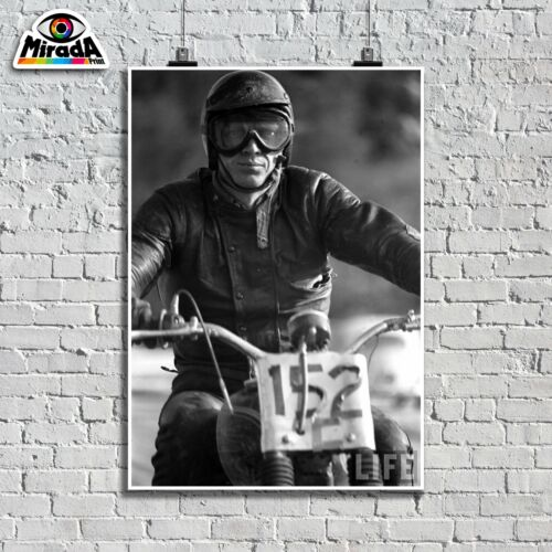 Poster Fotos Einrichtung Steve Mcqueen 1963 Actor Motorrad 01 Quality Graphics