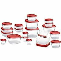 Rubbermaid 42 Piece Easy Find Lid Food Storage Set Container Plastic Microwave