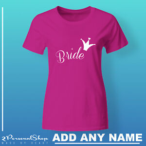Hen-T-Shirts-Do-Party-Bride-Personalised-T-Shirt-Ladies-Custom-Printed-Tee-Mom