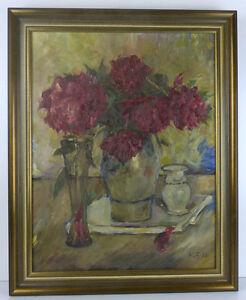 Impressionistisches-Stillleben-Gladiolen-Eifelmaler-Heinrich-Fuellbeck-60er-Jahre