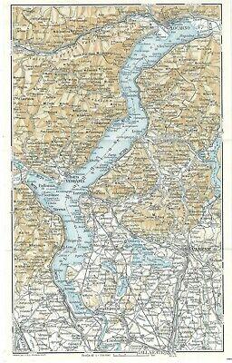 Cartina Geografica Del Lago Maggiore.Lago Maggiore Piemonte Carta Geografica Touring Club 1961 Ebay