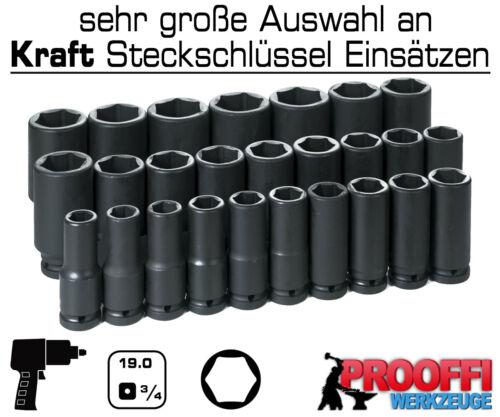 """KRAFT Power Schlagschrauber Nuss 3//4/"""" Stecknuss 22 mm Steckschlüssel 6-Kant Lang"""
