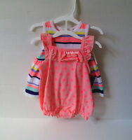 Cherokee Clothes 2 Outfits Girls Stripes Dots 0-3 Months