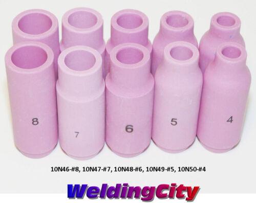10 TIG Welding Ceramic Cups 10N46-10N50 #4-#8 Torch 17//18//26 US Seller Fast Ship