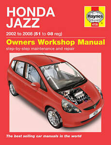 haynes workshop repair manual honda jazz 02 08 ebay rh ebay com haynes manual honda civic pdf haynes manual honda accord