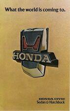 Honda Civic 1200 1976 USA Market Sales Brochure Sedan Hatchback