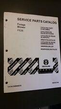 New Holland F62b Forage Blower Service Parts Catalog