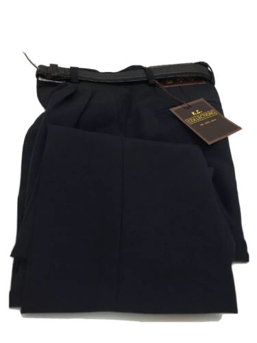 Details about  /K.C Boys Dress Pants Navy Blue with 2-Pleats with Belt Polyester Sizes 4-12