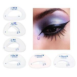 6pcs cat eye stencils eye liner fast makeup tools models template eyeliner card ebay. Black Bedroom Furniture Sets. Home Design Ideas
