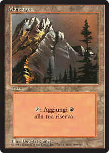 FBB Forest-Forest MTG Magic Italian Revised art A Rocks